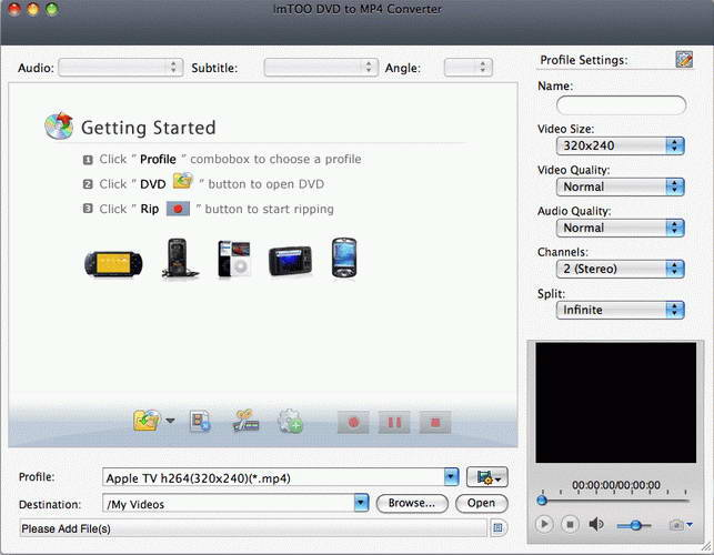 ImTOO DVD to MP4 Converter for Mac