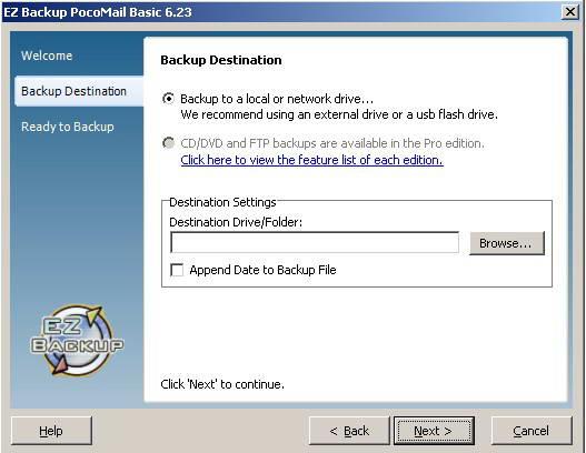 EZ Backup PocoMail Basic