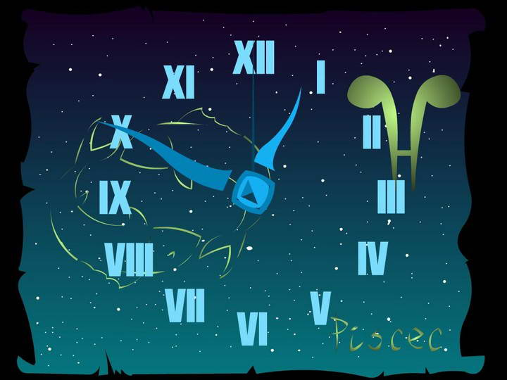 Pisces Zodiac Clock ScreenSaver