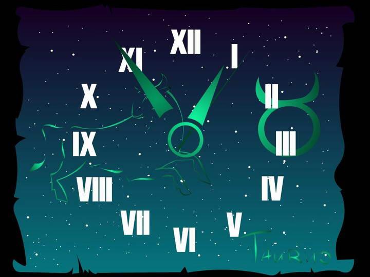Taurus Zodiac Clock ScreenSaver