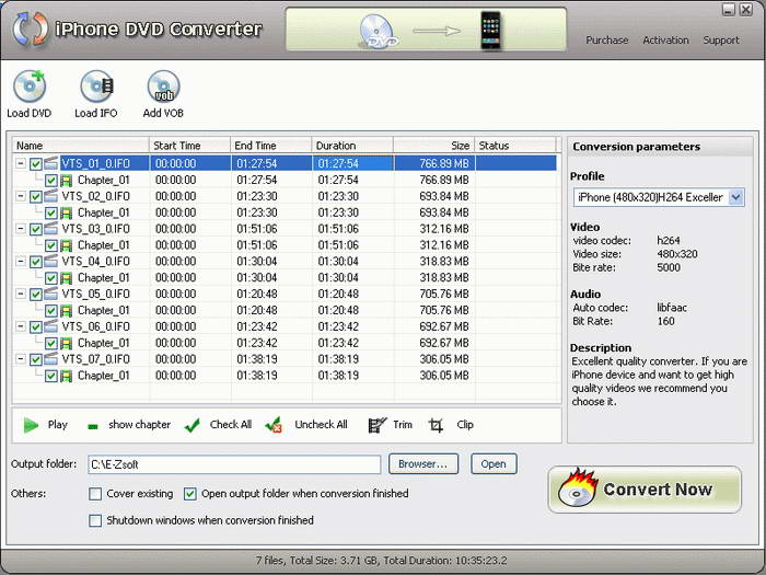 E-ZSoft DVD To iPhone Converter