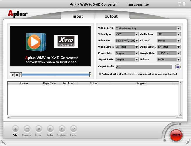 Aplus WMV to XviD Converter