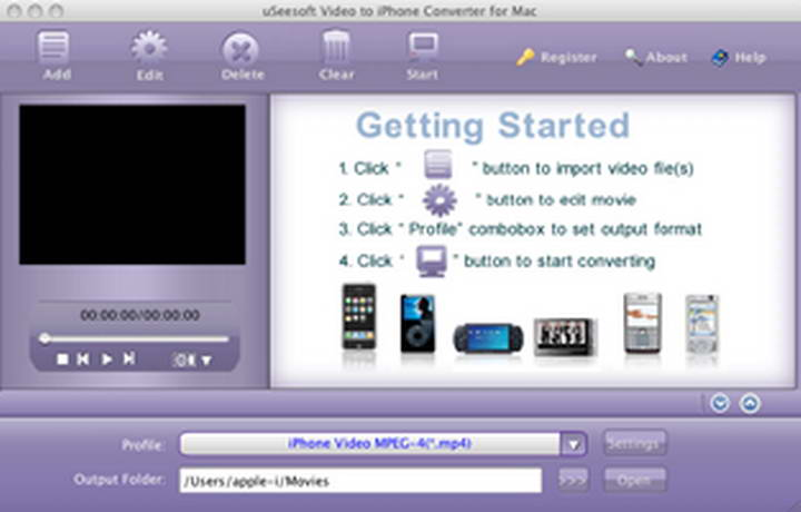 uSeesoft Video to iPhone Converter