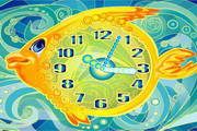 Gold Fish Clock ScreenSaver