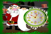 7art Santa Claus Clock ScreenSaver