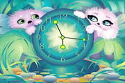 Alien Pets Clock ScreenSaver