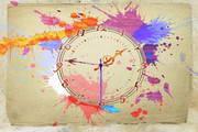 Water Color Clock ScreenSaver for MAC