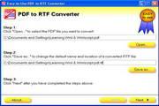 Easy-to-Use PDF to RTF Converter
