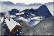 Winter In Mountains 3D Screensaver
