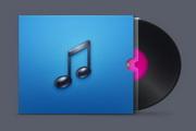CD唱片图标PSD