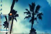 主题之家椰树风景电脑桌面