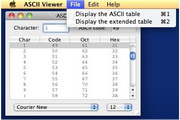 ASCII Viewer For Mac 7.0