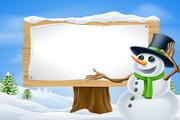 卡通雪人矢量素材