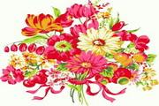 红白菊花矢量图