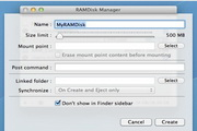RAMDisk Manager For Mac