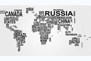 创意世界地图矢量素材