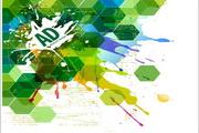 抽象绿色背景矢量