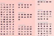 200多款网页设计图标psd素材
