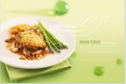 芦笋鲜肉美食PSD素材