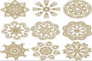 中式古典花纹图案矢量图