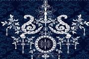 欧式花纹背景矢量图设计