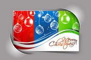 圣诞节绚彩卡片矢量设计素