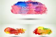 彩色晕染效果矢量创意设计