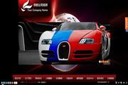跑车主体风格Flash网站系统
