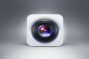 精致相机镜头图标PSD