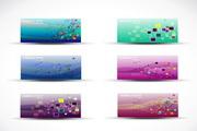 彩色卡片横幅矢量素材