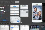 iOS7 iphone界面psd素材下载