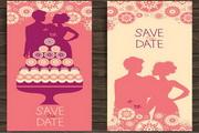 婚礼邀请卡矢量...
