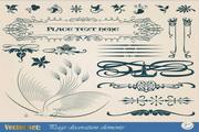 朴素装饰花纹图案矢量素材