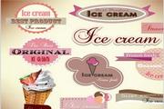冰淇淋图标设计矢量模板