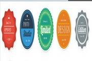 圆形标签设计矢量素材