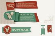 酒吧标签设计矢量素材