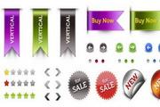 网页Wed标签元素包psd设计素材