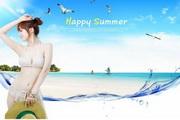 夏季广告美女海报素材