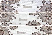 复古花纹横幅矢量设计模板
