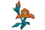 矢量花朵素材87