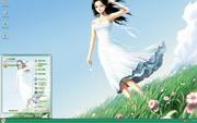PCTheme清纯白裙少女xp主题 1.6.0.3