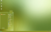 PCTheme简约清爽绿色背景xp主题 1.6.0.3