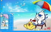 PCTheme卡通辛巴狗的假日xp主题 1.6.0.3