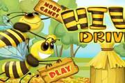 可爱蜜蜂采花蜜...