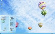 蓝天热气球清爽桌面主题 1.6.0.3