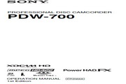SONY索尼 PDW-700 说明书