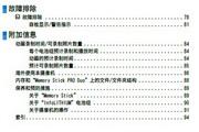 SONY索尼 DCR-SX30E 说明书