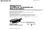 <p>&nbsp;SONY索尼 DCR-TRV510 说明书</p>