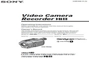 SONY索尼 CCD-TRV49 说明书