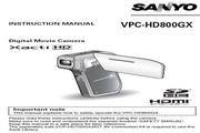 三洋 VPC-HD800GX 说明书